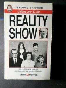 LIVRE-REALITY-SHOW-LAFFAIRE-JOHN-E-LIST-LIBRO-BOOK