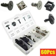 60pcs Universal Automobile Engine Protection Pan Hardware Kit Pin Clip Nut Parts Fits 1999 Jeep Wrangler