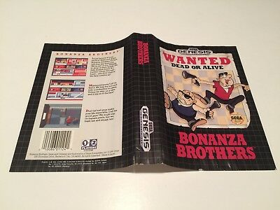 Reliable Bonanza Brothers Artwork Covers Box Only Do You Want To Buy Some Chinese Native Produce? Sega Genesis