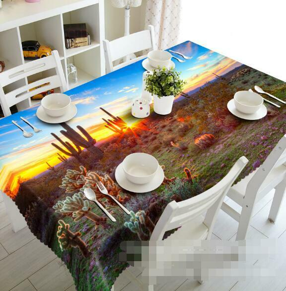 3D Sunset 76 Tablecloth Table Cover Cloth Birthday Party Event AJ WALLPAPER AU