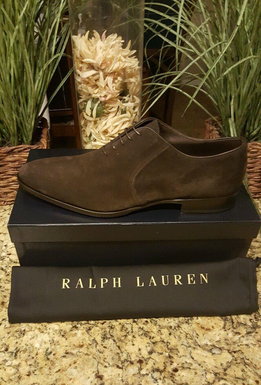 Ralph Lauren Mens Collection Calf Suede Leather Gosforth  Dress shoes Sz 13