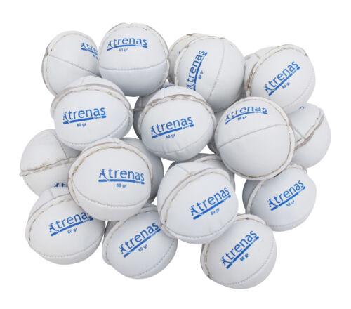 Schule Schlagball von trenas aus Leder DLV 80 g Ball Ballwurf Weiß