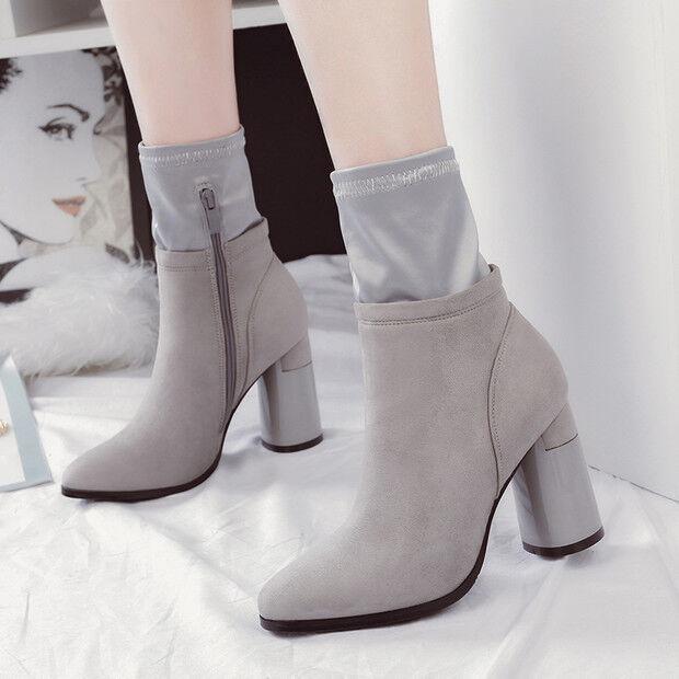 Stivali stivaletti bassi  stiletto 9 cm caviglia grigio pelle sintetica 9560