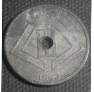Below Occupation German WW2 Belgium 3 Pieces Used Date Variable Zinc under
