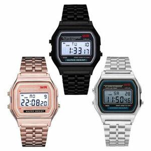 LED-Digital-Uhr-Silikon-Sportuhr-Wasserdichte-Digitaluhr-Herren-Damen-Armbanduhr