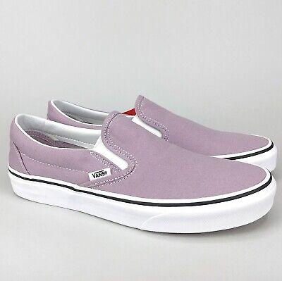 True White Violet Canvas Skate Shoe