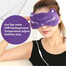 USB heated eye mask sleep masks warm steam Goggles eliminate dark circle fatigue