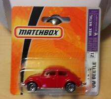 VW Käfer - VW 1200 - 1962 Superfast Matchbox auf Karte OVP rot Speichenräder