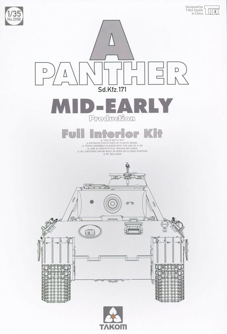 TAKOM PANTHER A SD.KFZ.171 MID-EARLY PROD.FULL INTERIOR 1 35 2098