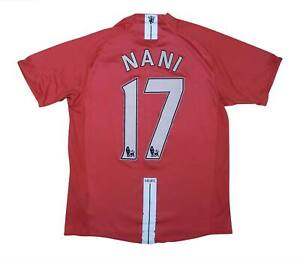 Manchester United 2007-09 Authentic Home Shirt NANI #17 (OTTIMO) M