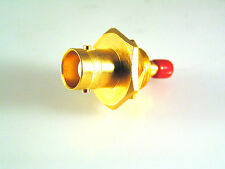 BNC Socket to Mini Push Fit (SMC Type?) Adapter - Gold Plated Body & Contacts