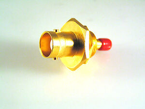 BNC-Socket-to-Mini-Push-Fit-SMC-Type-Adapter-Gold-Plated-Body-amp-Contacts-OM0751