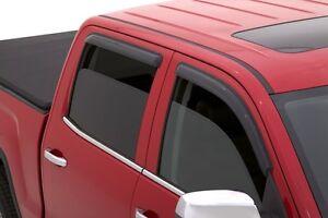 Tape-On-Window-Shades-Ventvisors-4-Pc-14-15-Chevy-Silverado-Crew-Cab-AVS-94536