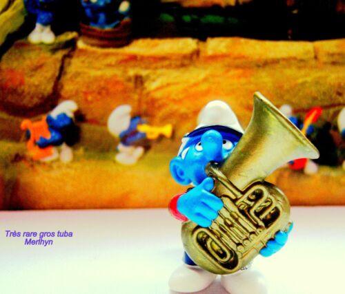 20488 Schtroumpf gros tuba puffi puffo smurf  pitufos schlumpf fanfare T.Rare