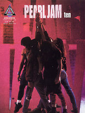 Pearl Jam Ten Guitar Learn to Play Once Alive Even Flow Rock TAB Music Book