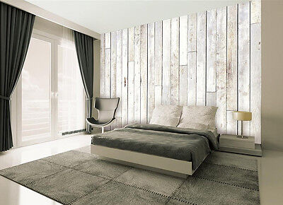 WOOD WHITE WALLPAPER MURAL WALL PAPER POSTER LIVING ROOM BED MURALS NEW DESIGN