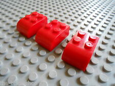 LEGO Red bricks Brick 2 x 3 with Curved Top ref 6215 / Set 7665 10020