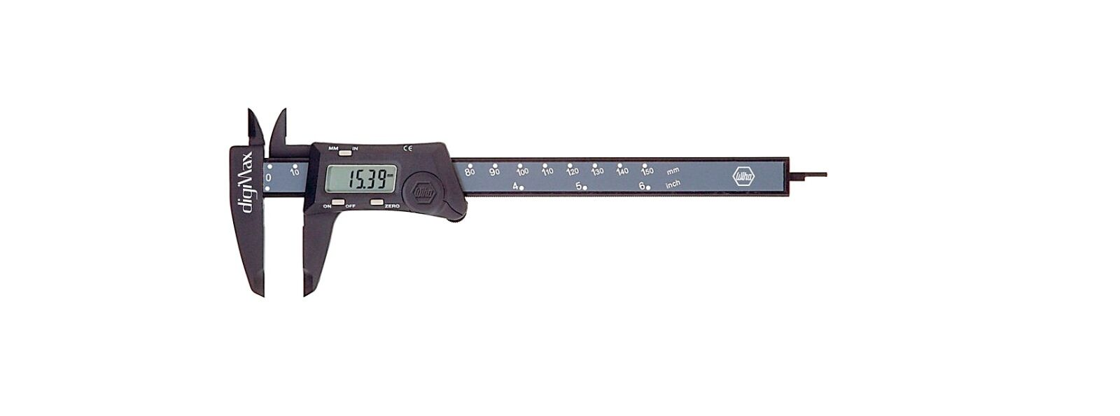 Wiha 6 Inch Range Digital Electronic Caliper DigiMax - Made In Switzerland