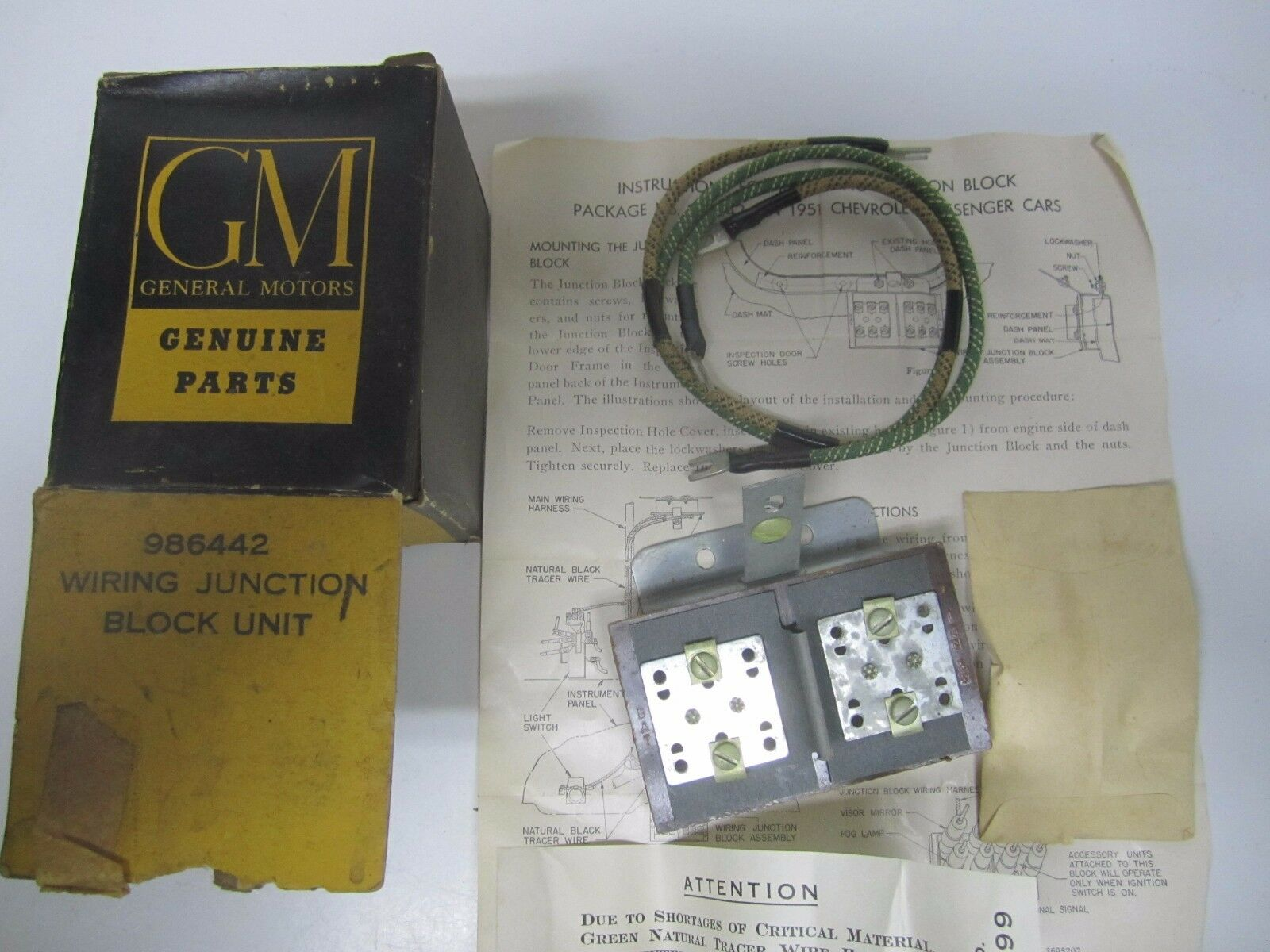 1951 1952 1953 Chevrolet Passenger Car Nos Gm Junction Block 986442 Phone Wiring Blocks Norton Secured Powered By Verisign