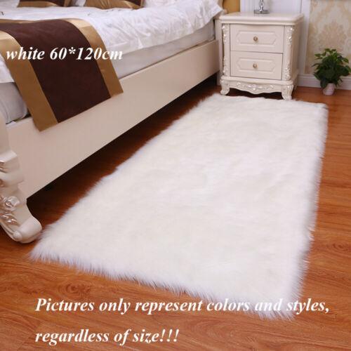 Sofas Cushions Pure Faux Fur Mats Wool Carpet Washable Rugs Shiny Sheepskin