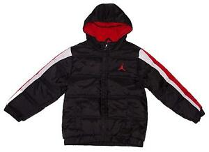 dca4a6d80 NWT NIKE Air Jordan Jumpman Toddler Boys Hooded Puffer Jacket Black ...