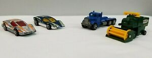 4-Vintage-hot-wheels-and-matchbox-Car-Lot-Aeroflash-Silver-Bullet-Harvester