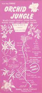 1960's Orchid Jungle Homestead Florida Brochure