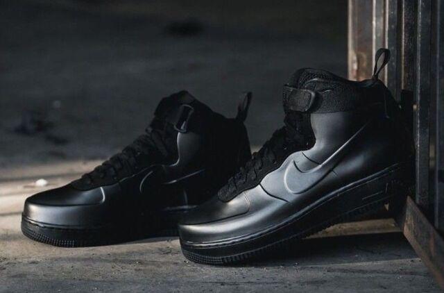 Nike Air Force 1 Foamposite Cup Af1 Triple Black Sneaker Mens Size 8.5