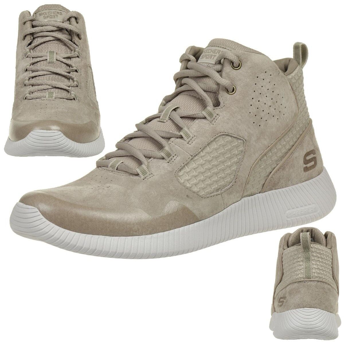 Skechers depth Charge drango calcetines cortos outdoor zapatos Taupe beige