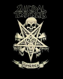 SUICIDAL-TENDENCIES-cd-lgo-Pentagram-POSSESSED-Official-SHIRT-SMALL-still-cyco
