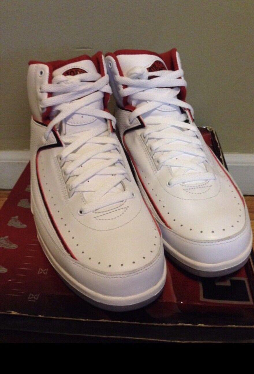 DS 2008 Air Jordan Retro 2 II XXI III IV CDP Collezione Size 10 W/ New Nike Tee