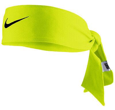 New Womens Nike Head Tie Dri Fit 2.0 Volt Headband Tennis Running