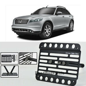 For 06-08 Infiniti FX35 FX45 Front Tow Hook License Plate Relocator Bracket