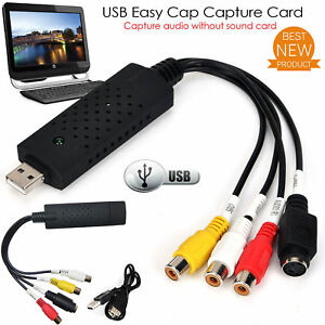 Nouveau-easy-cap-VHS-to-DVD-Audio-Video-Converter-carte-de-capture-Adaptateur-USB-UK-Stock