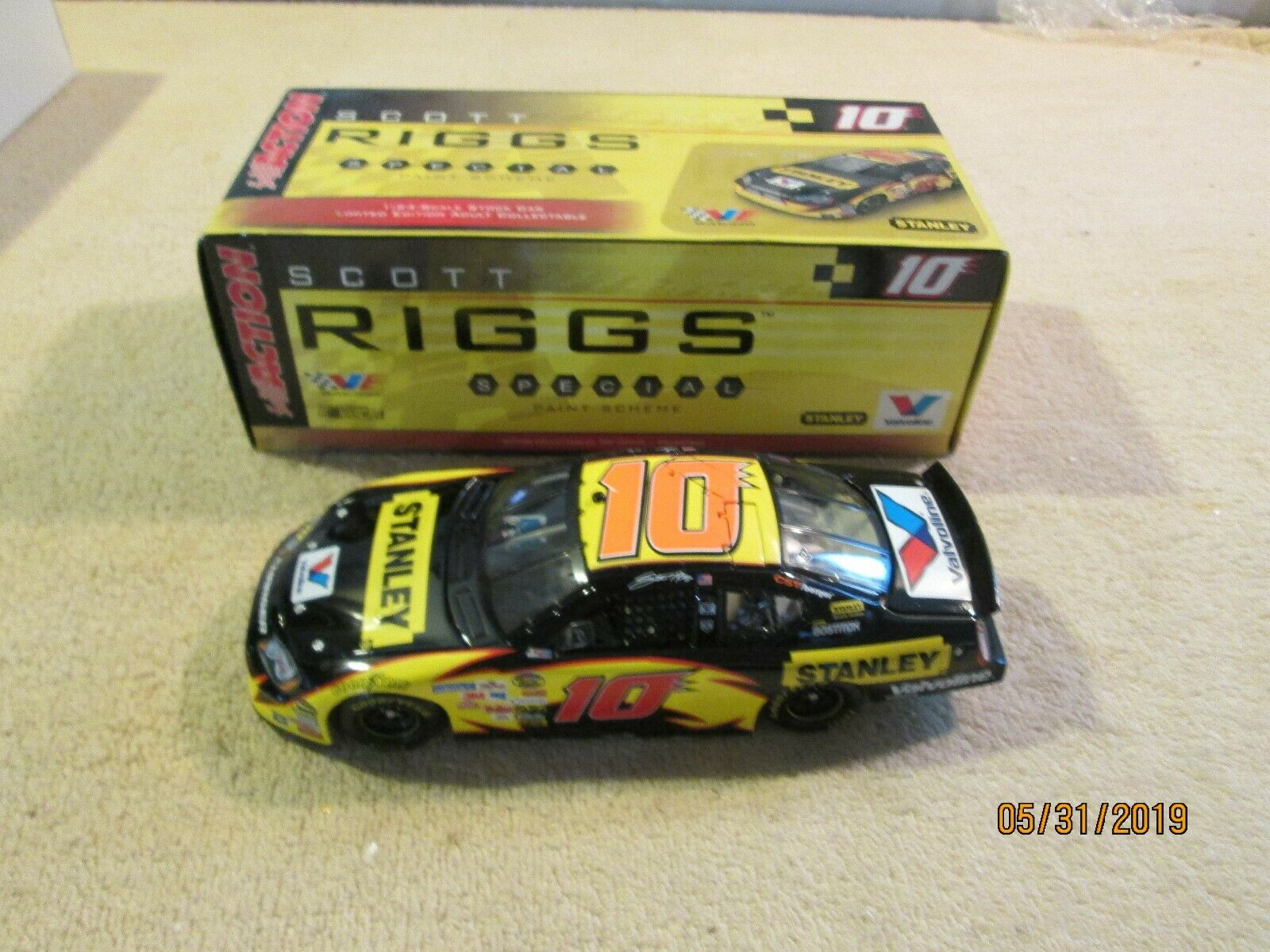 Rare Action RCCA 1 24 Scott Riggs Stanley 2006 Club Car Diecast