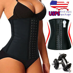 Hot-Sweat-Sauna-Waist-Trainer-Cinchers-Women-Slimming-Latex-Body-Shaper-Belt-WEN