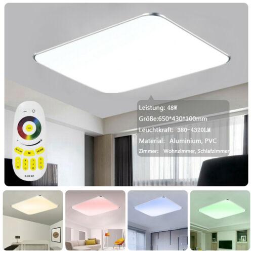 LED Deckenleuchte RGB Ultraslim Fernbedienung Deckenlampe Dimmbar Flurleuchte