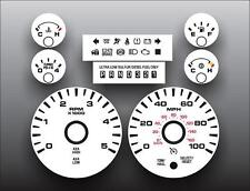 2008-2010 Ford F-250SD F-350SD Truck Diesel Dash Cluster White Face Gauges