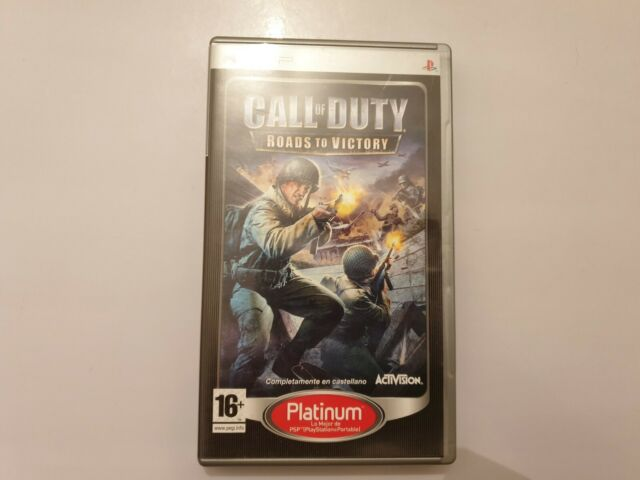 Call of Duty Roads to Victory Sony PSP PAL España COMPLETO