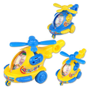 Mini Helicopter Aircraft Clockwork Winding Drones Kids Toy Birthday Party Gift
