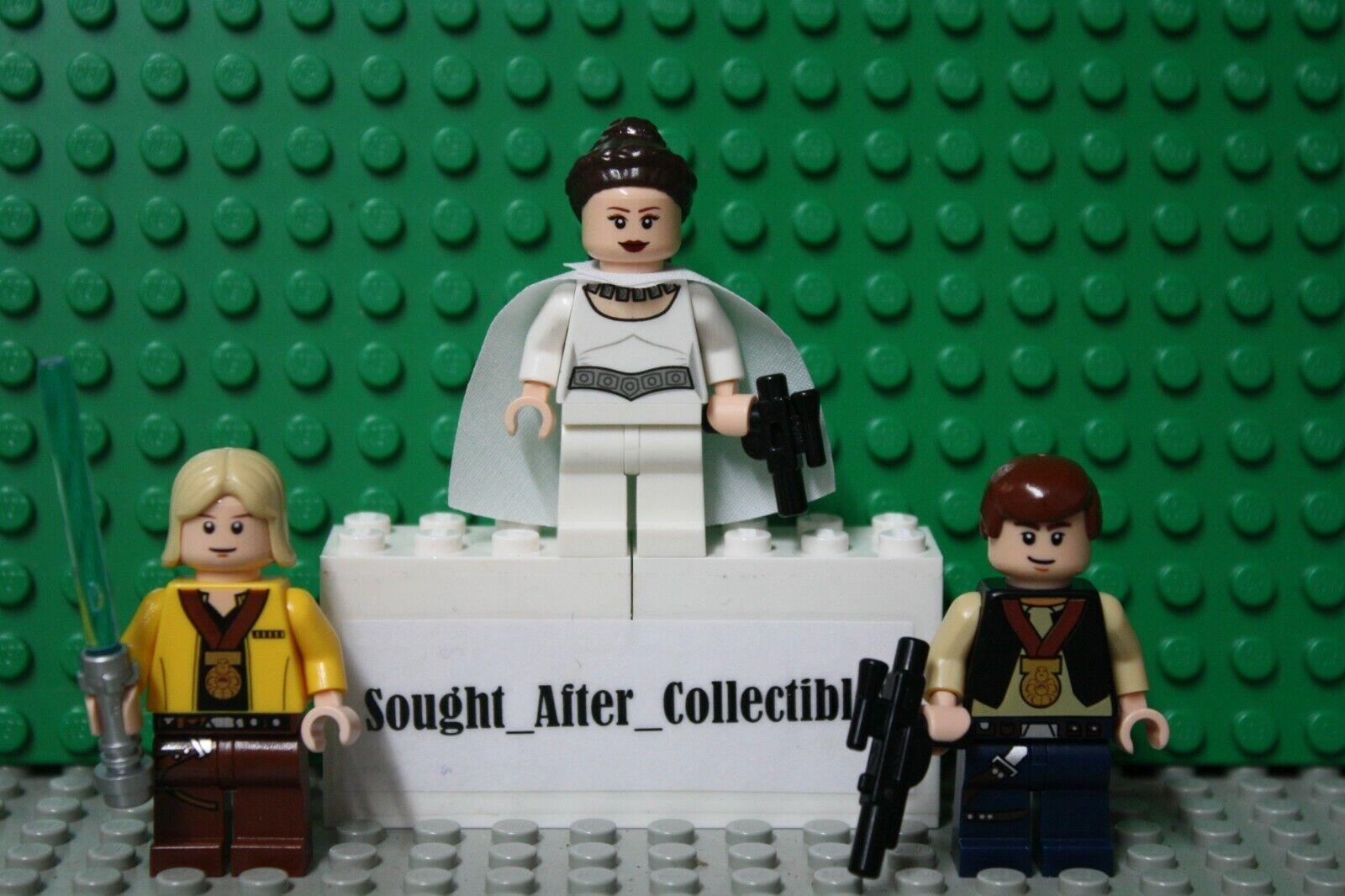 Lego  Star Wars Yavin médaille cérémonie Leia Luke Skywalker et Han Solo Authentique  acheter pas cher
