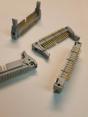 Latch 3M 3431 Male 2.54mm  2x17 34 Pin Right Angle Ejector Header Lot of 10