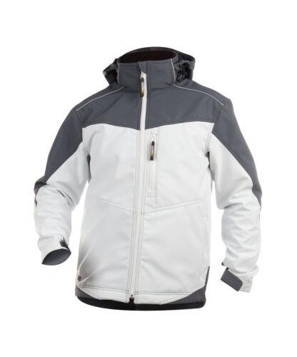 White//Grey Dassy JAKARTA 300336 Two-Tone Softshell Painter//Decorators Jacket