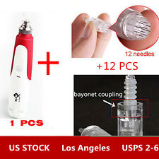 Micro Needle Roller Electric Derma Pen Stamp Auto Anti Aging Skin Therapy Device