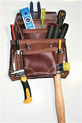 Oil Tanned Leather Tool Belt Pouch Bag Carpenter Construction Framers LEATHER