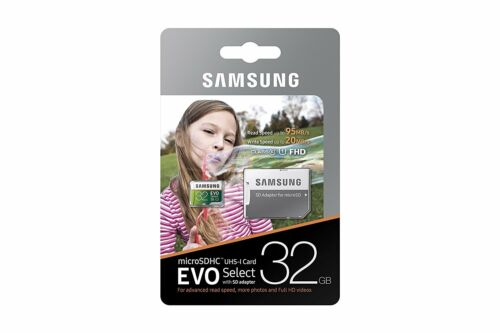 Samsung 32GB Micro EVO select V20 4K SD card for DJI Inspire v2.0 RAW Quadcopter