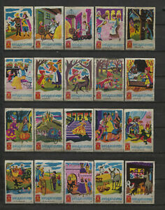 Nice-Complete-Set-of-50-VIVO-Fairytales-Rare-Dutch-Vintage-Matchbox-Labels