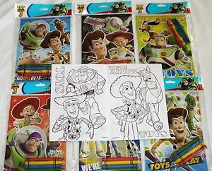 12 Disney Pixar Toy Story 3 Coloring Books & 48 Crayons Party Bag ...