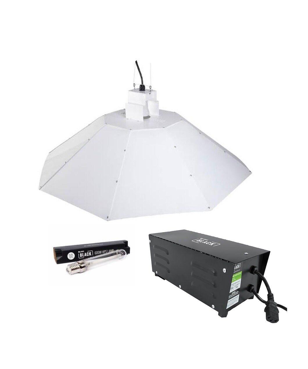 PARABOLICA Ombra Grow Light Kit Zavorra LAMPADINA Shade 1mtr coltura idroponica 600 W kit luce