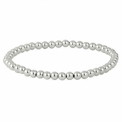 "Silverly .925 Sterling Silver Infinity Symbol /""8/"" Stretchable Ball Bracelet"
